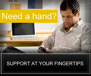 Need a hand?  Support at your fingertips!