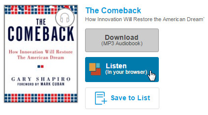 The listen button next to a title on the checkouts page. See instructions above.