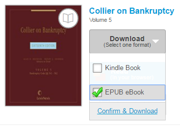 The EPUB download option. See instructions above.