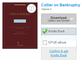 The Kindle Book download option. See instructions above.