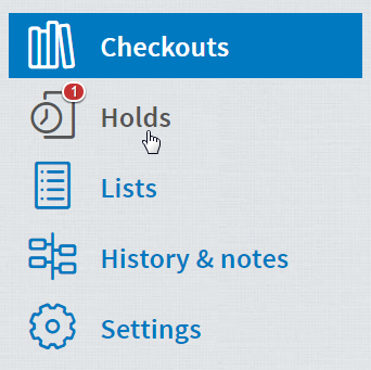 Available hold title on checkouts page