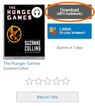 Audiobook download button