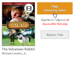 Streaming Video play button